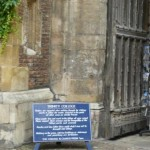 Вход в Тринити колледж в Кембридже