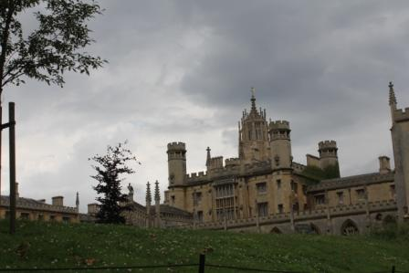 The view on a college from the river Cam