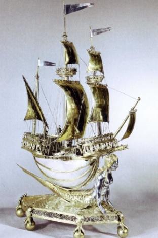 Кораблик- солонка (Музей Виктории и Альберта)
