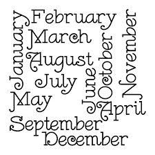 Откуда произошли названия месяцев (текст на английском языке)