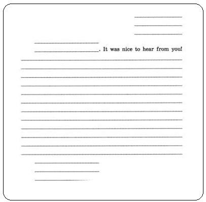 Личное письмо на английском языке 5 класс Шаблон