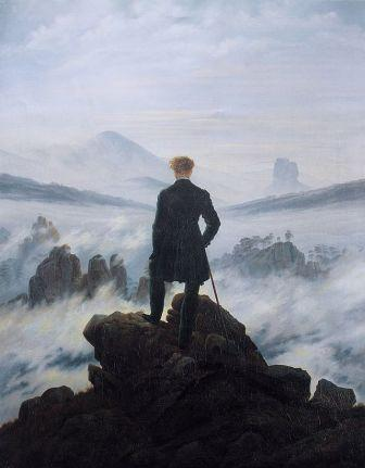 "Caspar David Friederich ""The wanderer Above the Sea of Fog"""