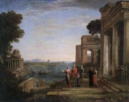"Claude Lorrain ""Farewell to Dido in Carthage"""