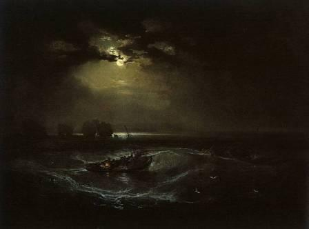 Josepf Turner. Fishermen at sea (a description of the painting)