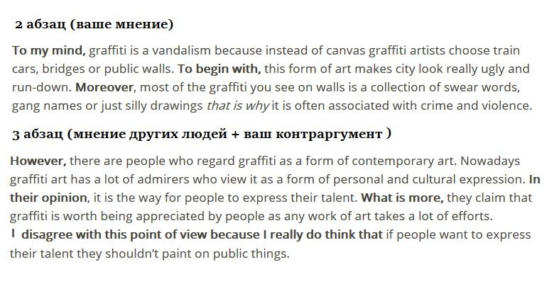 Пример эссе на тему «Граффити как вид искусства» с  разбором