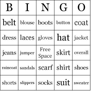 Topic Сlothes английские слова по теме для начинающих