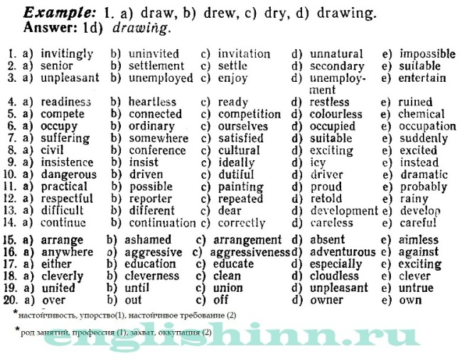 Существительные. Словообразование. Практика 1