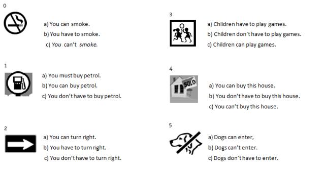 Модальные глаголы и их эквиваленты. Упражнения