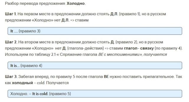 Перевод на английский язык безличных предложений 2
