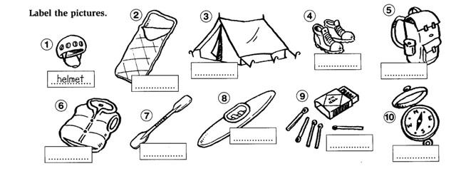 """Camping. Английские слова по теме """"Поход"""""""
