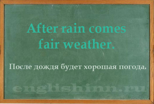 weather список английских слов