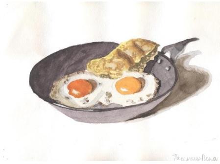 Food Список английских слов. Рисунок Елены Пахомкиной
