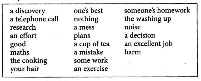 Expressions Do VS Make Упражнения