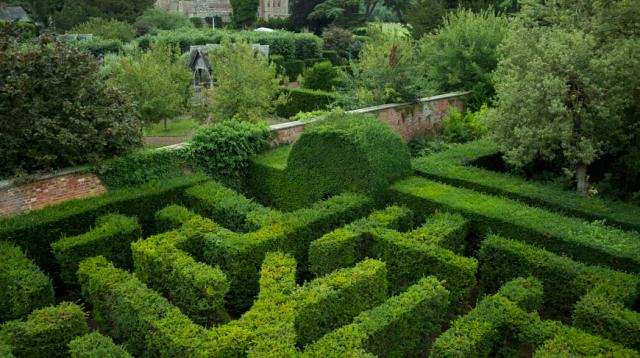 Достопримечательности Великобритании - лабиринт в Хэмптон-корт.