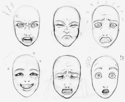 Feelings and Emotions. Faces